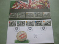 """Football Legends"" 1996 set of mint stamps and First Day Cover - perfect condition"