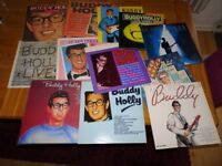 12 X VARIOUS BUDDY HOLLY VINYL LP'S 80'S 90'S ISSUES, VERY GOOD TO MINT CONDITION!