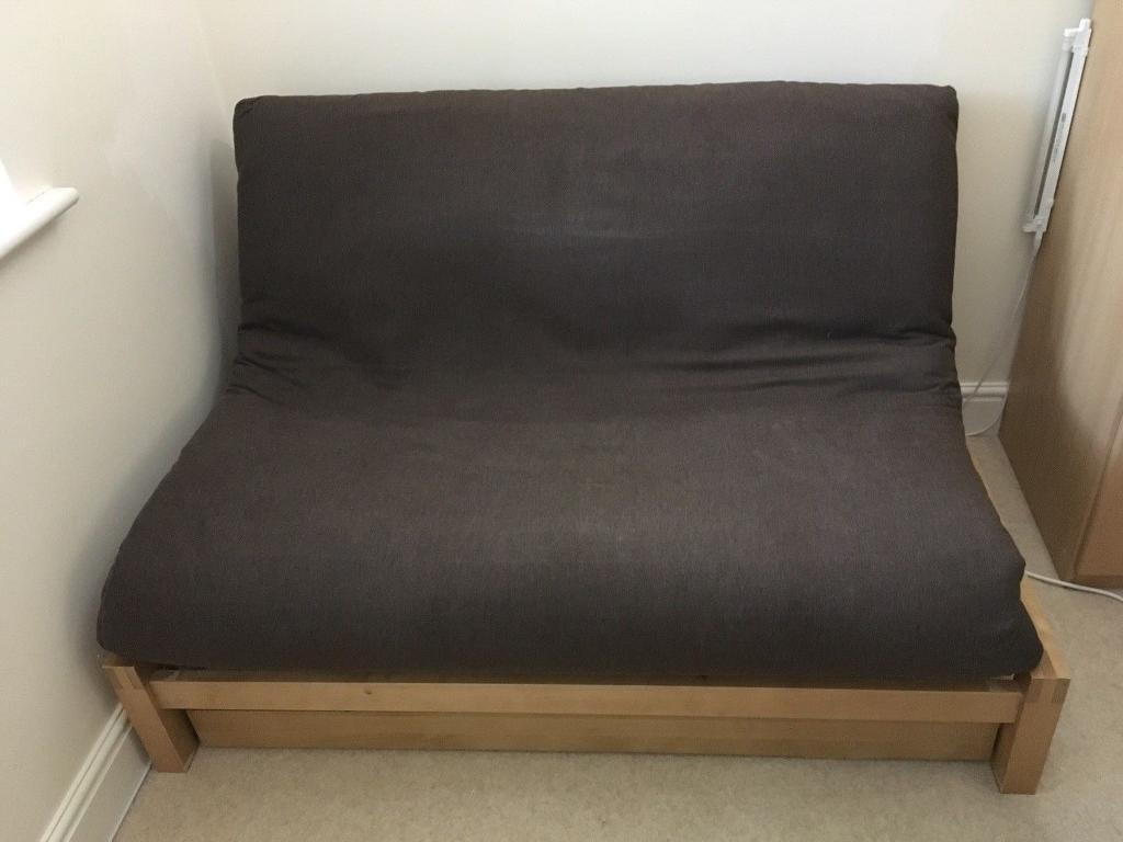 Solid Birch Futon Company Linear 2 Seater Sofa Bed With Under Drawerin Ealing London