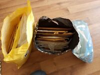 About 30 used padded envelopes and bubble wrap