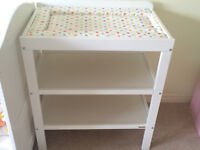 John Lewis changing table with mat