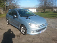 2006 Peugeot 206 1.4 16V sport, 81000 miles, full v5, mot 17 May 2017