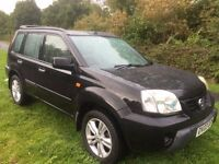 NISSAN X TRAIL 2.2 DI SPORT 4X4 03 REG IN BLACK WITH SERVICE HISTORY AND MOT