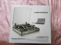 Audio technica record player turntable