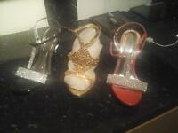 ladies shoes size 6 excellent condition 3 party party shoes look at pitures