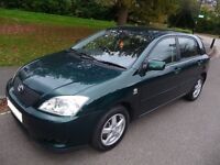 TOYOTA COROLLA T3 1.4 PETROL 2003 LOW MILEAGE 1 Owner From New