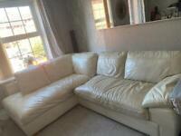 Corner cream sofa