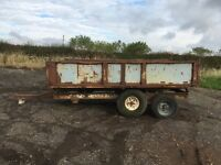 Kay trailers twin axle tipping trailer. Spares or repairs