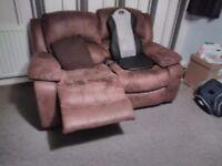 Sofa 3+2 good condition recliner