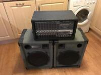 Peavey X-RAY 684 Powered Mixer with a pair of custom speakers!