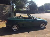 Lovely little sporty MGF convertible in good condition. Low mileage. MOT until mid June 2019