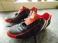 PATRICK FOOTBALL / RUGBY BOOTS SIZE 12 PLUS FREE PAIR OF ADDIDAS WARRIORS SIZE 11 £20 THE LOT !
