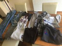 Bag of clothes (young boys approx 15yrs old) - Trainers sold extra or separately