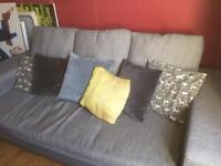 Large grey sofa from dwell. 2 and a half years old
