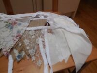 Bunting - Hessian, lace, vintage floral design, shabby shic - perfect for weddings or parties!