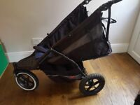Phil & Teds Double Buggy Stroller Pushchair Pram