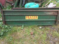 Fraser Silage Trailer sides and back door