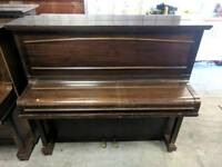 Very Nice Oak 'Russell & Russell' Upright Console Piano - CAN DELIVER