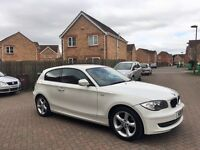 2011 BMW 1 SERIES 116i SPORTS WHITE, MOT 12 MONTHS, CRUISE, PARKING SENSORS