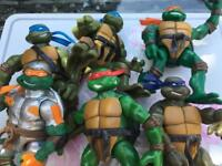 Teenage ninja mutant turtles figures x6