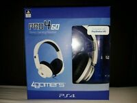 4GAMERS Pro4-60 PS4 headset (WHITE)