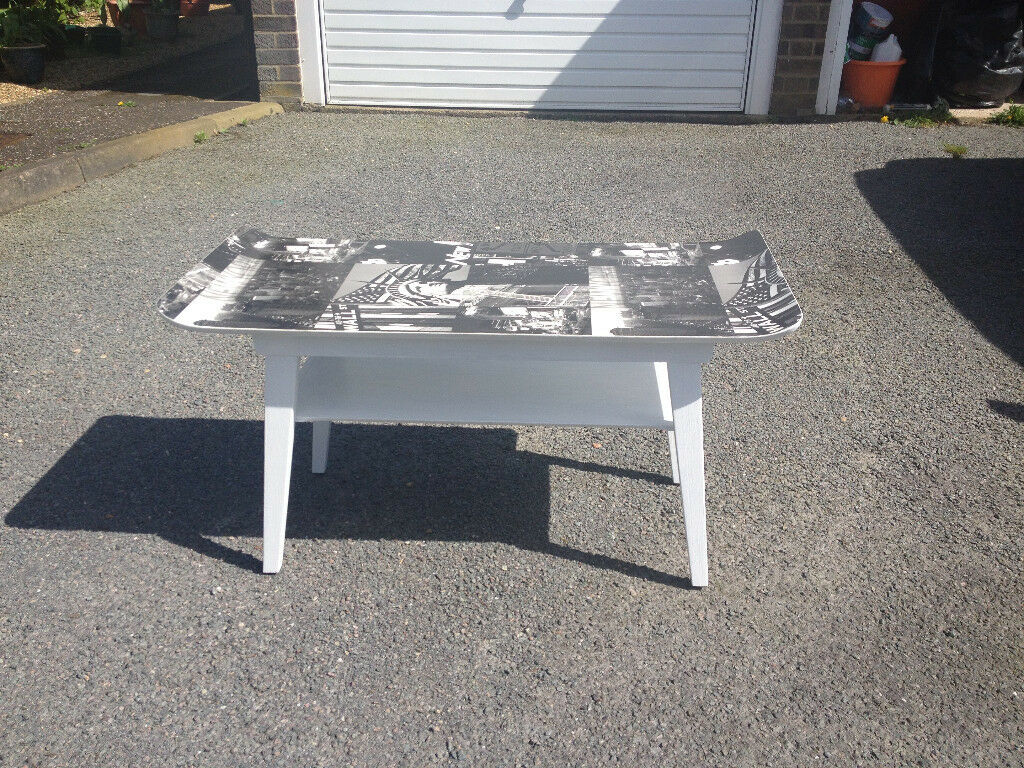 Upcycled 1960 S Meyer Coffee Table New York City Skyline In Norwich Norfolk Gumtree