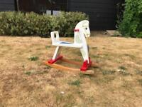 Traditional hand made rocking horse.