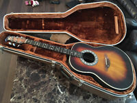 Ovation Balladeer, semi acoustic guitar 1979, matrix infinity pick up fitted, + hard shell case