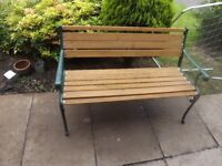 Cast Iron Garden Bench / Summer Seat Like New