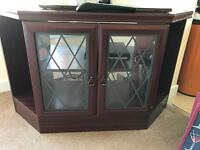 Nice corner TV unit with glass doors FREE