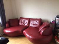 Real Leather Sofa from DFS