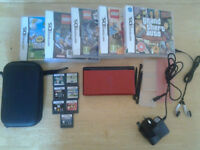 metalic red nintendo ds lite bundle.