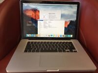 "Macbook Pro 15"" 2.4GHz 8GB RAM (Upgraded) Unibody comes with charger working perfect Good Battery"