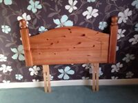 Pine headboard to fit single bed