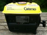 Portable Petrol Generator, 650 watts. Excellent Condition, Quiet and Economical.