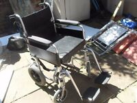 FOLDING WHEELCHAIR LIGHTWEIGHT IN GOOD CONDITION HAS CUSHION CAN DELIVER