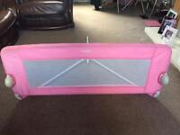 Tomy pink bed rail