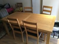 John Lewis dinning table and chairs