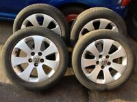 2010-13 Vauxhall insignia Alloy wheels with tyres ,size 225/55R17