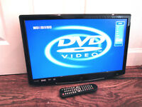 """22"""" Full HD 1080p Digital LCD TV with Integrated DVD player + remote"""