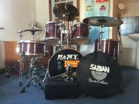 Mapex Mars Pro full Drum Kit with Evans heads & Sabian Pro Sonix Cymbals in vgc