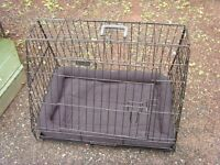Pet crate for car of home use.
