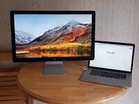 "2x 27"" Apple Thunderbolt Display Screen Monitors"