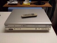 LG dvd and vhs recorder with remote