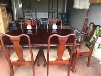 Extendable dining table 5 chairs