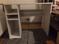 Great little desk - white, light and comes flat packed!