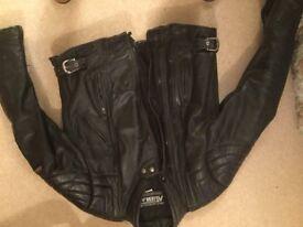 leather Ashman motorbike jacket