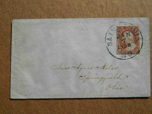 RARE 1858 dated cancellation very nice overall envelope US postage stamp #26?