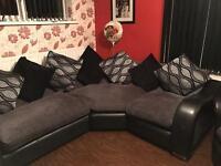 DFS corner sofa and swivel cuddle chair