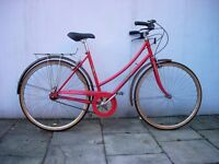 Vintage Dutchie/ Town/ Commuter bike by Peugeot, Red, 3 Speed Sturmey, JUST SERVICED/CHEAP PRICE!!!